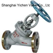 Cast Steel Y Type Flanged Globe Valve